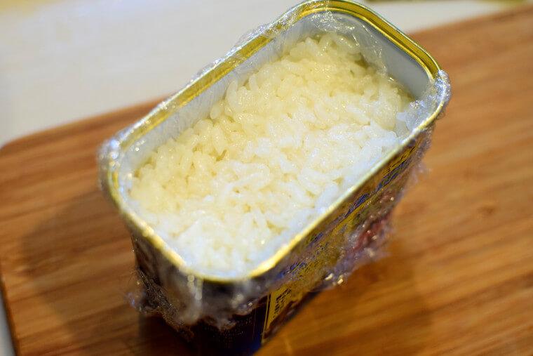 スパムおにぎりお米