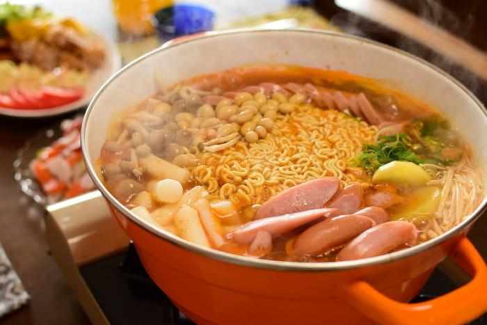プデチゲ麺完成