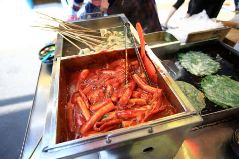 韓国屋台粉食