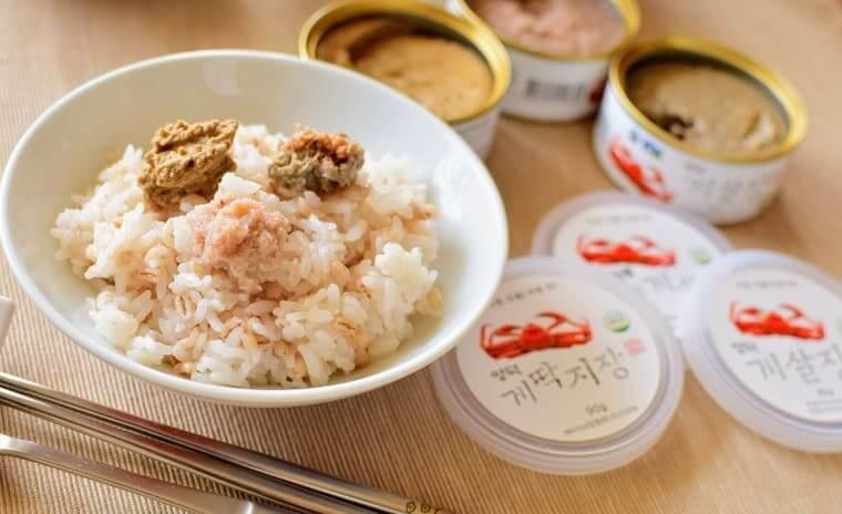 ヨンドクケ(盈徳蟹)缶詰と白ご飯