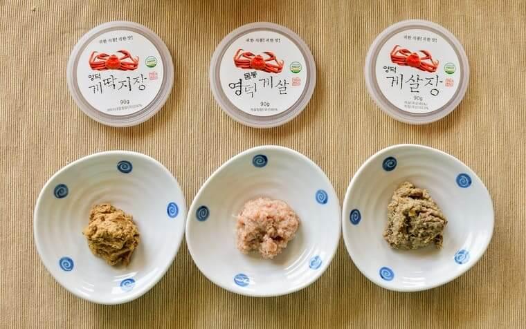 ヨンドクケ(盈徳蟹)缶詰3種類正面