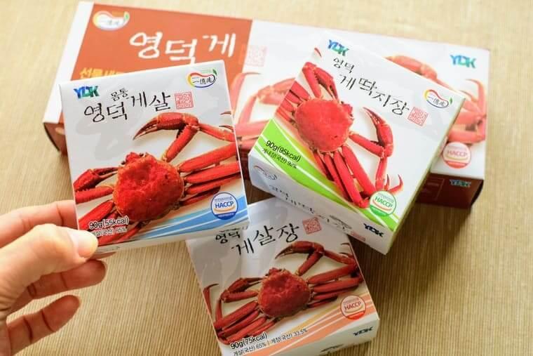 ヨンドクケ(盈徳蟹)缶詰3種類