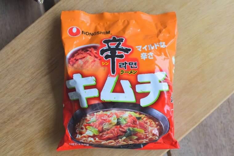 辛ラーメンキムチ袋麺パッケージ