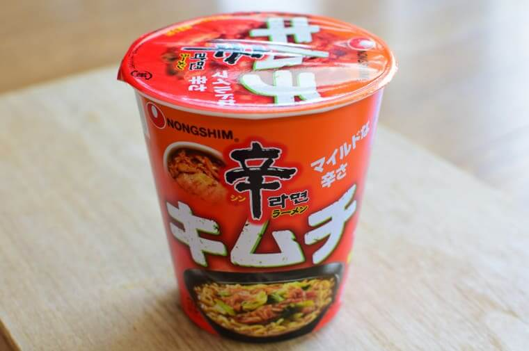 辛ラーメンキムチカップ麺