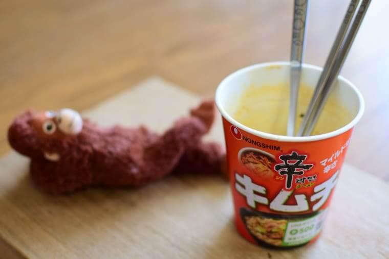 辛ラーメンキムチカップ麺さっぱりおいしい