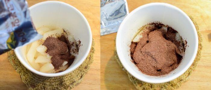 ヨッポギチョコ粉ソース