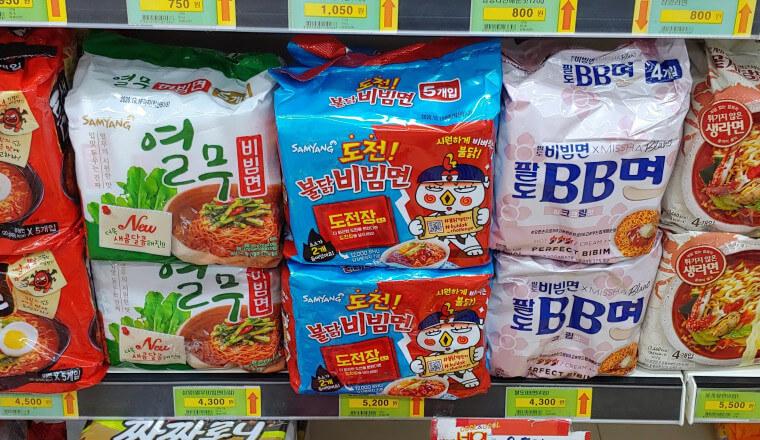 挑戦プルダックビビン麺スーパー